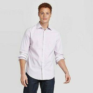Printed Standard Fit Non-Iron Button-Down Shirt